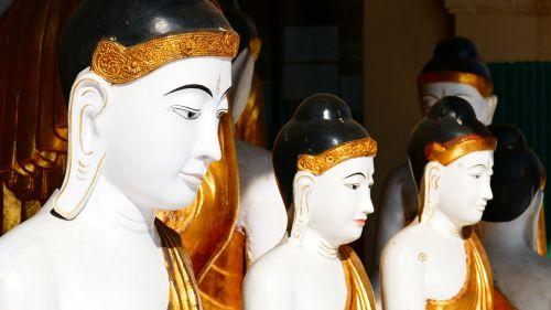 buddha statue shwedagon