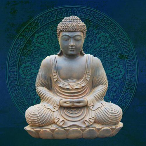 buddha blue zen