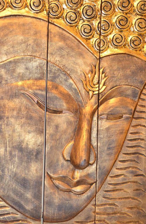 buddha buddha head buddha wall carving