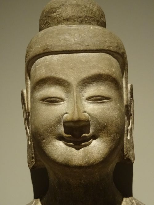 buddha face satisfaction