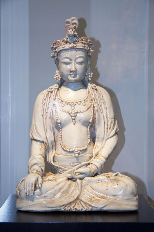 buddha clay sculpture glazed
