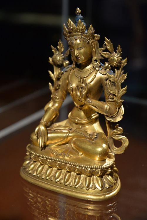 buddha amitayus gilded bronze sculpture