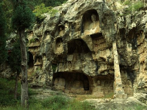 buddha art chinese culture grotto