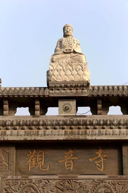 buddha statues kwan-yin temple xinzheng