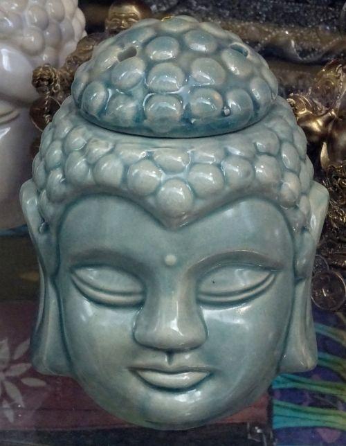 Senovinis, indai, buda, budizmas, joga, medituoti, meditacija, medituojantis, taikus, ramus, religija, religinis, keramika, keramika, keramika, porcelianas, vintage, klasikinis, antikvariniai daiktai, senas, victorian, victoriana, Budos statulos galva