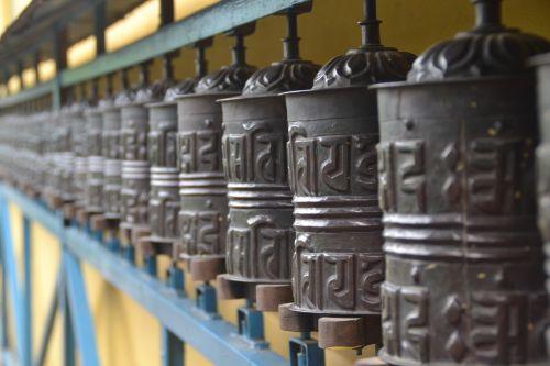 buddhist temple pokhara-baglung highway prayer wheels