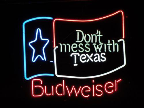 budweiser,skydas,skelbimas,reklaminis ženklas,reklama,neoninis ženklas,texas