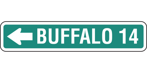 buffalo ahead 14 miles