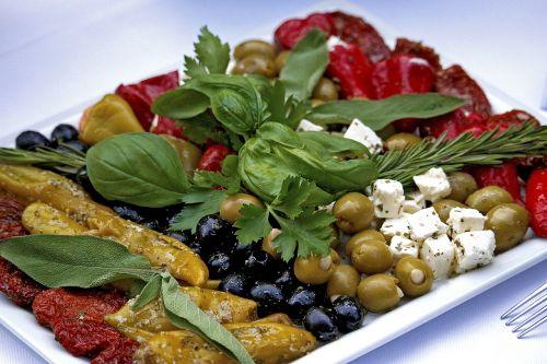 buffet cold plate appetizing