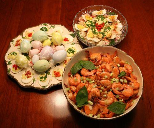 buffet dinner food
