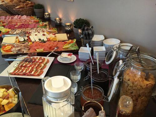 buffet breakfast eat food