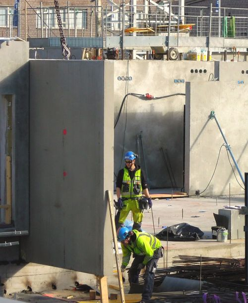 building construction work construction site