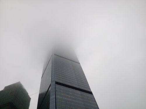 building tall buildings fog
