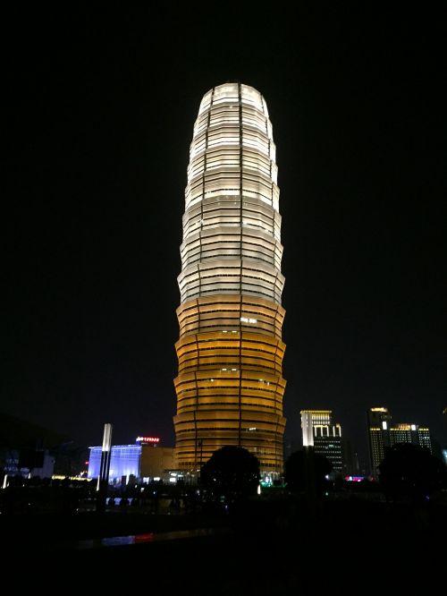 building night view zhengzhou