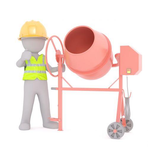 building concrete mixer construction