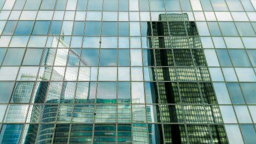 building glass reflexion