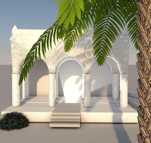 building columnar palm