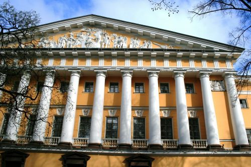building yellow historic