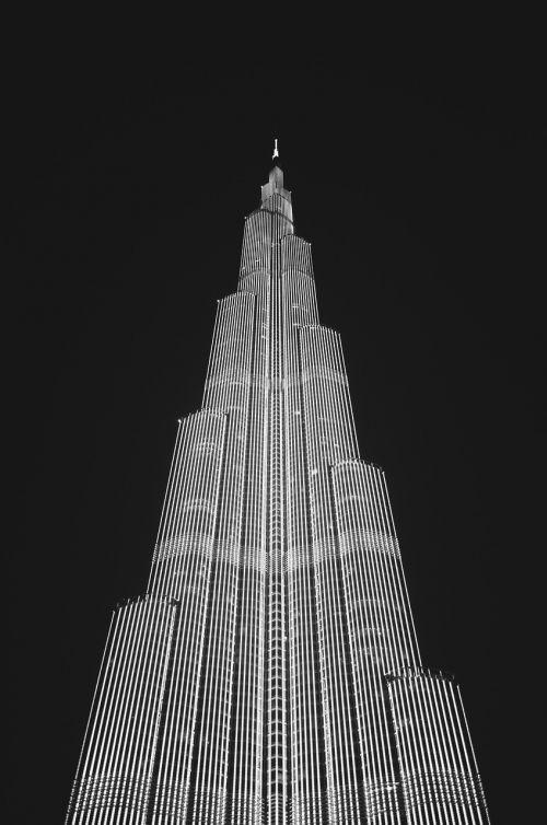 building black and white skyscraper