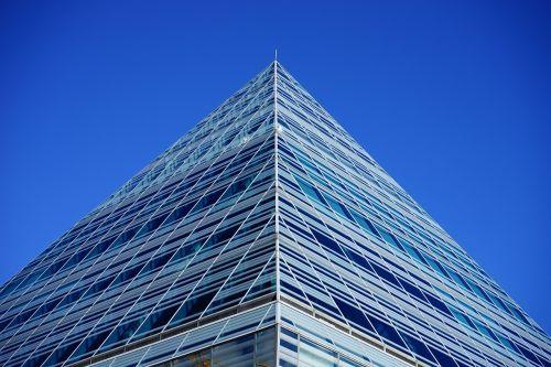 building pyramid peak glass pyramid