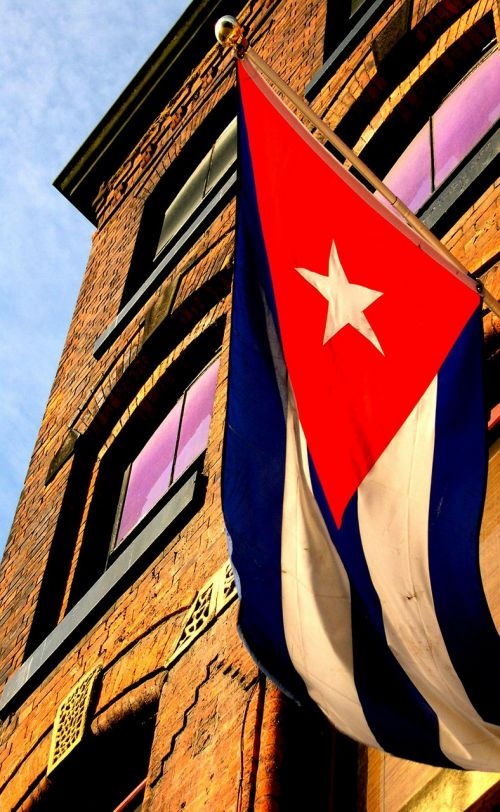 building manchester cuban flag