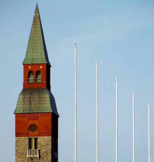 building tower flagpole
