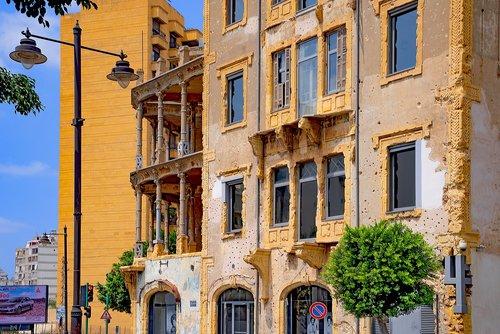 building  facade  beirut