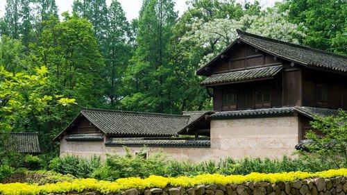 building  garden  traditional building
