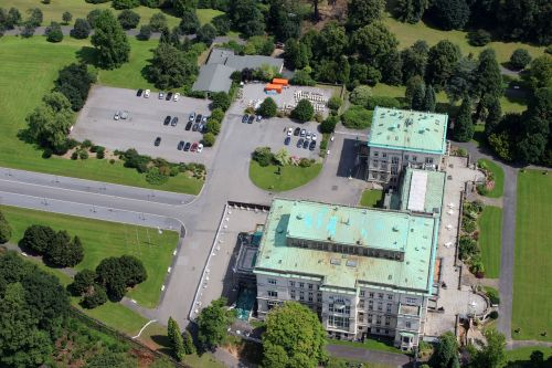 building terrain aerial view