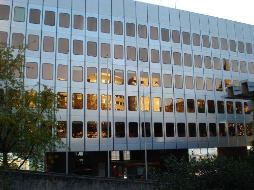 building facade reflections