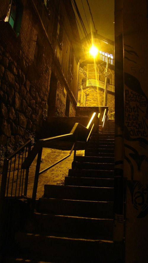 building stairs alley