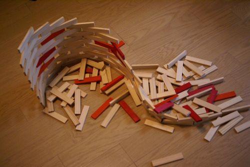 building block children collapse