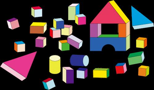 building blocks cubes cylinders