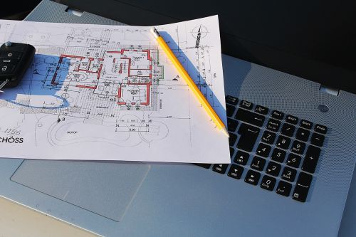 building plan laptop visit