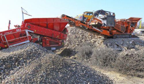 building rubble crash crusher