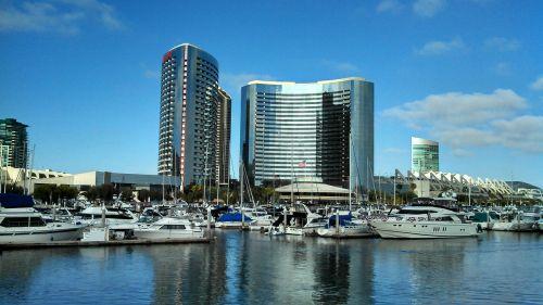 buildings waterfront cityscape
