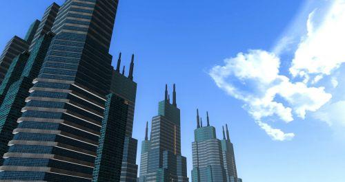 buildings 3d 3 dimensional