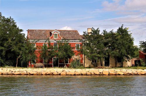 buildings lagoon water