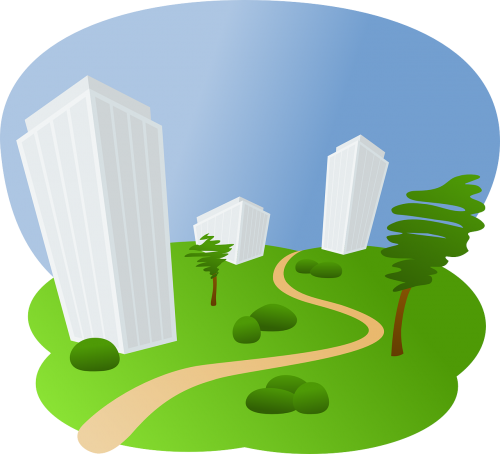 buildings office landscape