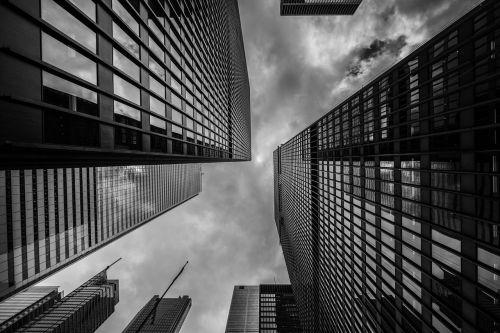 buildings skyscrapers perspective