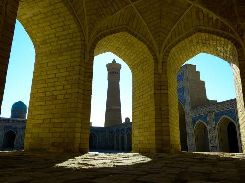 bukhara mosque minaret