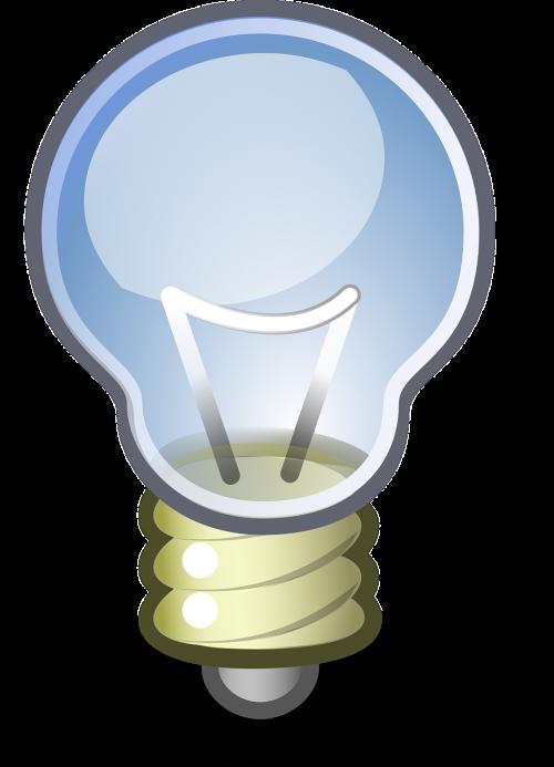 lemputė,idėja,lemputė,elektros lemputė,mąstymas,galvoti,įsivaizduok,piktograma,nemokama vektorinė grafika