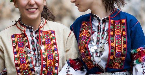 bulgarian folk costume  tradition  clothing