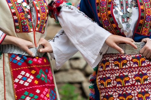 bulgarian folk costume  tradition  clothing