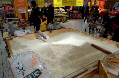 verslas, ryžiai, maistas, rodyti, prekybos centras, pardavimas, parduotuvė, apsipirkimas, bakalėja, bakalėja, birūs ryžiai