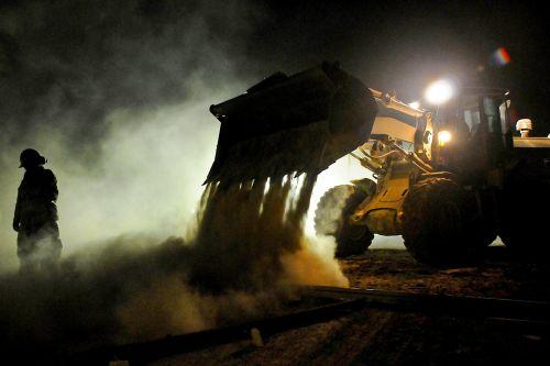 bulldozer construction road