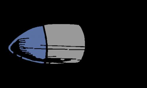 bullet blue gun