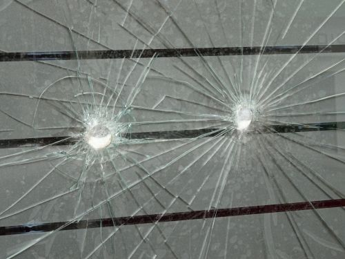 Bullet Holes Window