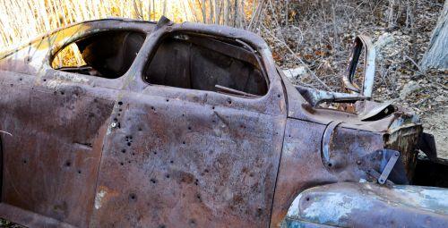 Bullet Ridden 1941 Ford