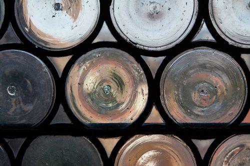 bullseye leaded glass navel slices